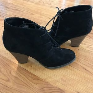 Mia Black Lace Up Ankle Boots